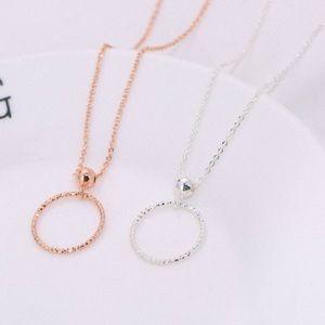 🍂 (925) DIAMOND CUT CIRCLE/BEAD NECKLACE